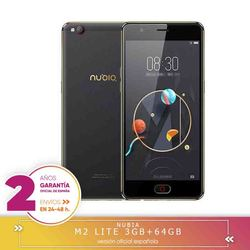 -Square Warranty-Nubia M2 Lite 5.5 inch single 3 hard GB RAM 64 hard GB ROM MTK6750 Eight Core 1.5GHz 4G Smartphone 1