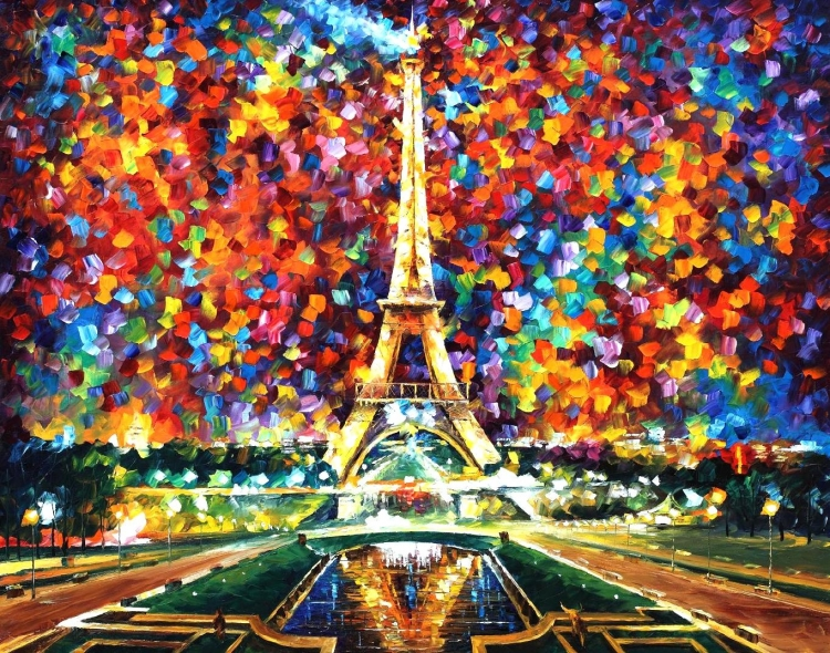 Painting By Numbers Colorful Paris, 40x50 Cm