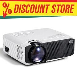 AUN MINI LED Projektor | Unterstützung 4K (X96Q) volle HD 1080p Heimkino | 3D Video Projektor | Tragbare LED Projektor für Outdoor