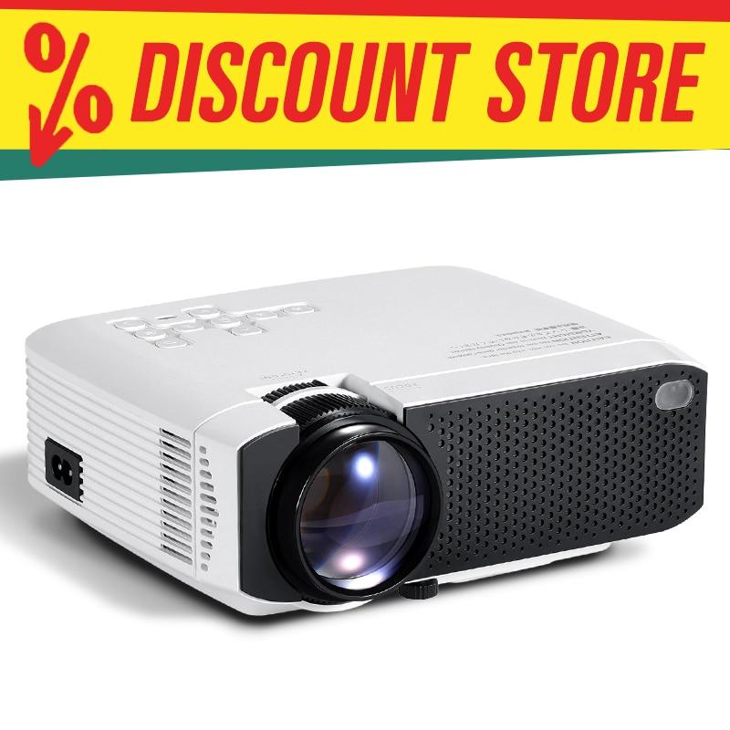 Aun 2020 mais novo mini projetor led d50/s | 1280x720 portátil vídeo beamer, hd1080p completo suporte para cinema em casa | 3d hdmi vga av sd