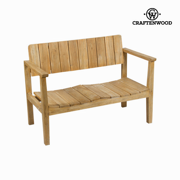 Bench With Backrest Craftenwood (110 X 60 X 80 Cm) - Pure Life Collection