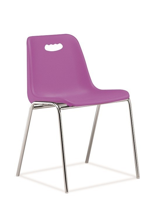 Chair ENCLOSURE With Handhold, Chrome Plated, Violet