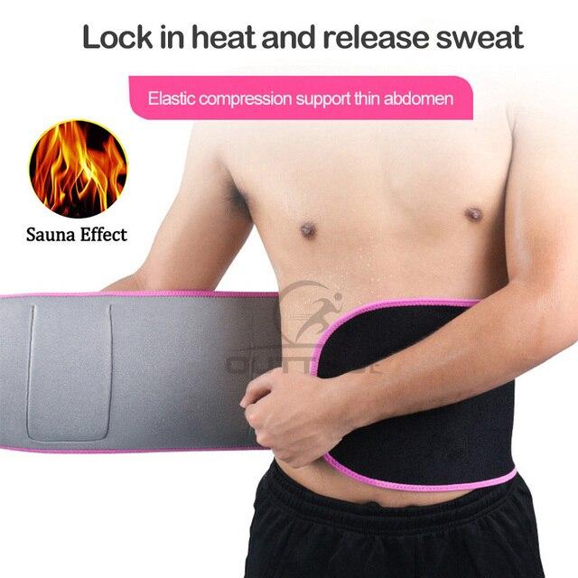Outtobe Sweat Belt Waist Trimmer Belt Waistband Sports Waist Belt Fitness Belt Sweating Body Abdomen Adjustable Intensive 1