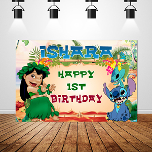 Image 5 - Sxy1605 Lilo Cartoon Dolls Children 1st Birthday photography Backdrops Newborn Photo Studio Backdrop Jungle Background Vinyl