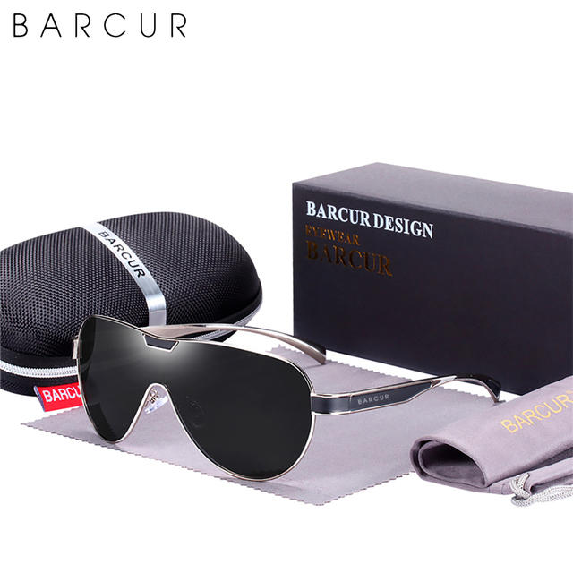 BARCUR Driving Polarized Sunglasses Men Brand Designer Sun Glasses For Men Sports Eyewear Lunette De Soleil Homme 5