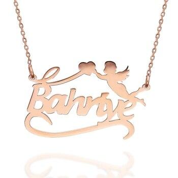 VAOOV 925 Sterling Silver Angel Name Necklace
