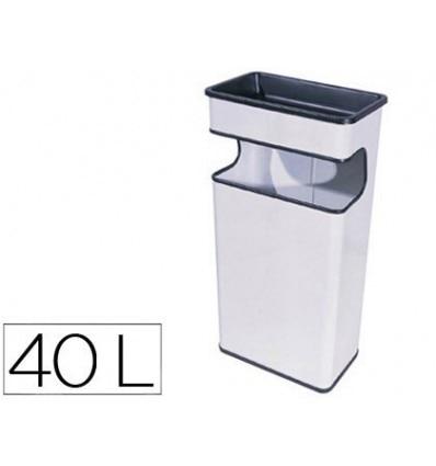 ASHTRAY TRASH METAL 406 WHITE-MEASUREMENT 67X31X19 CM
