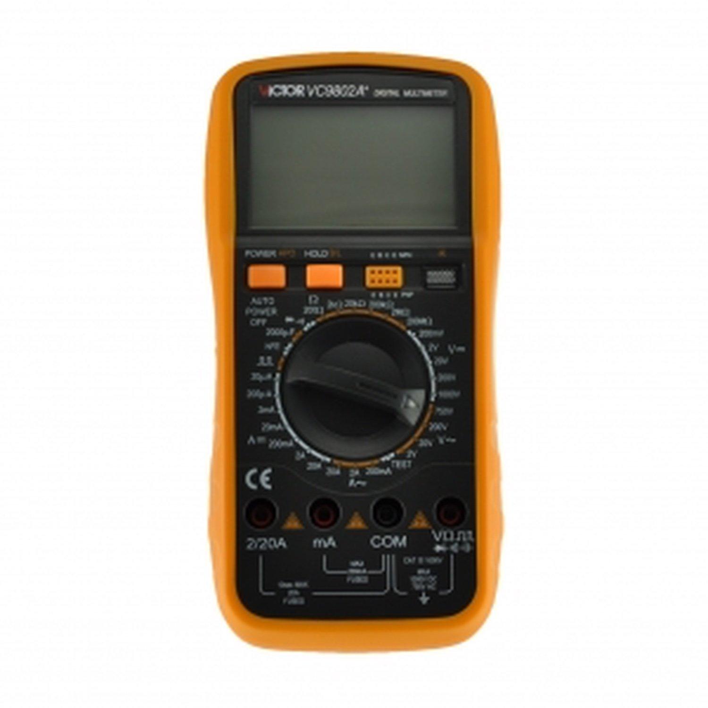 Digital multimeter VICTOR VC9802A + victor 77 digital process multimeter vc77