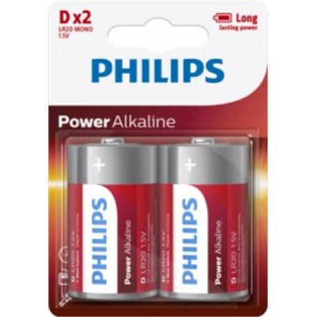 1,5V ALKALINE Battery LR20 PHILIPS POWERLIFE D D-LR20P2B/05 2