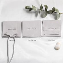 Bags Packaging-Pouch Wedding-Favor-Ring Custom-Jewelry Logo Print Personalized 50 Microfiber