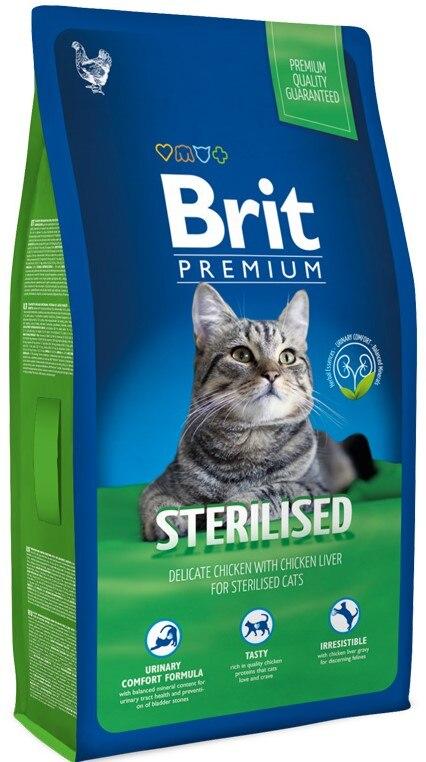Корм для кошек Brit Premium Cat Indoor для взрослых домашних кошек, Курица, 800 г