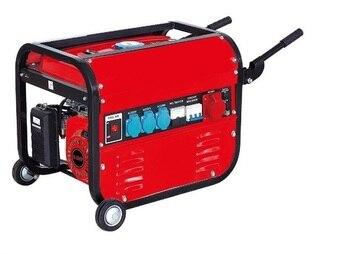 ELECTRIC GENERATOR GASOLINE 15L 5500W (1000W + 1000W + 1000W + 2500 W) THREE PHASE MONOFASICO MOTOR 4T WITH WHEELS