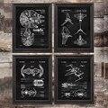 X Wing запатентованная схема Печать на холсте Декор для комнаты для мальчиков научная фантастика подарок для влюбленных постер Искусство укр...