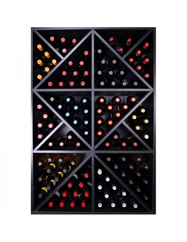 Mueble Botellero Diseño Negro 124 Botellas