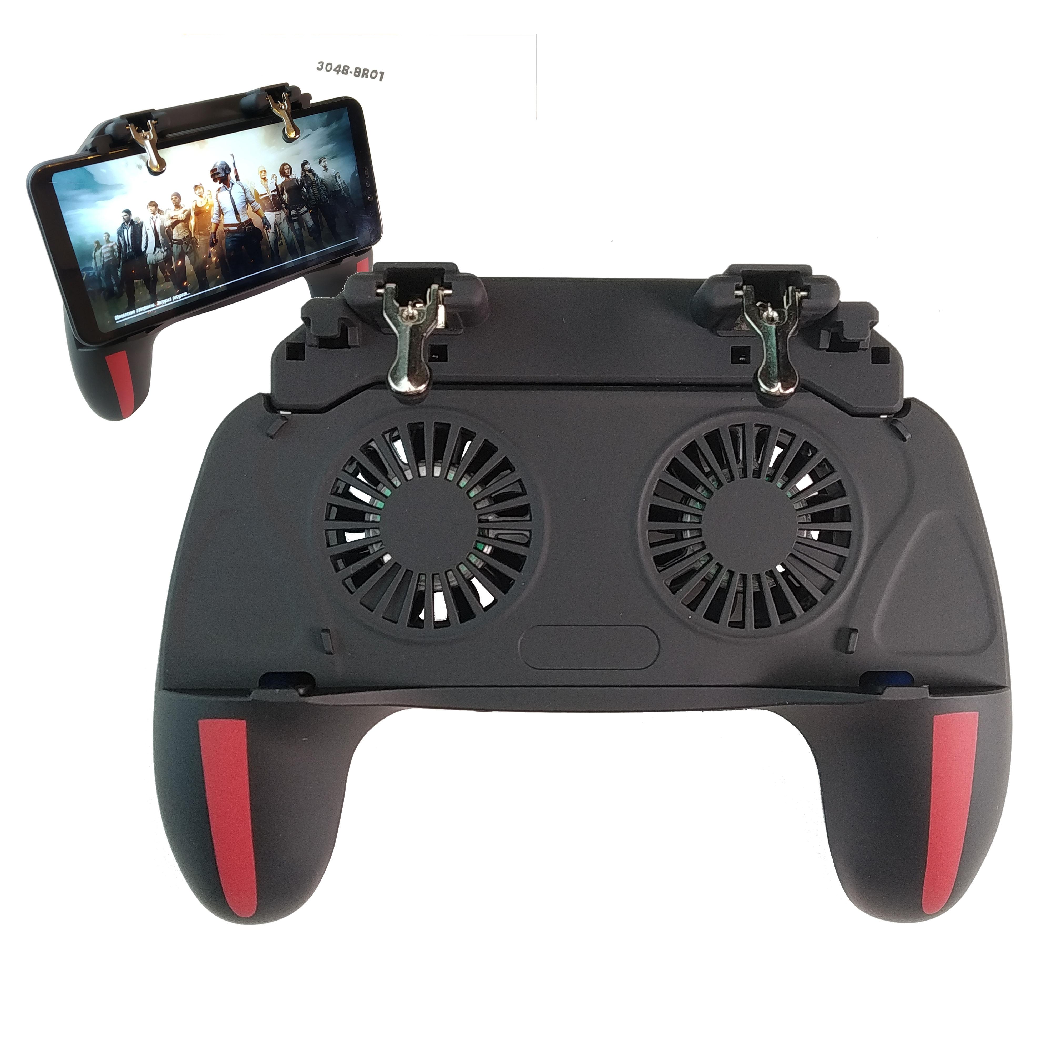 Джойстик для PUBG mobile, Триггер, Геймпад для COD, 6 пальцев, охлаждение для телефона, вентилятор для телефона, повербанк