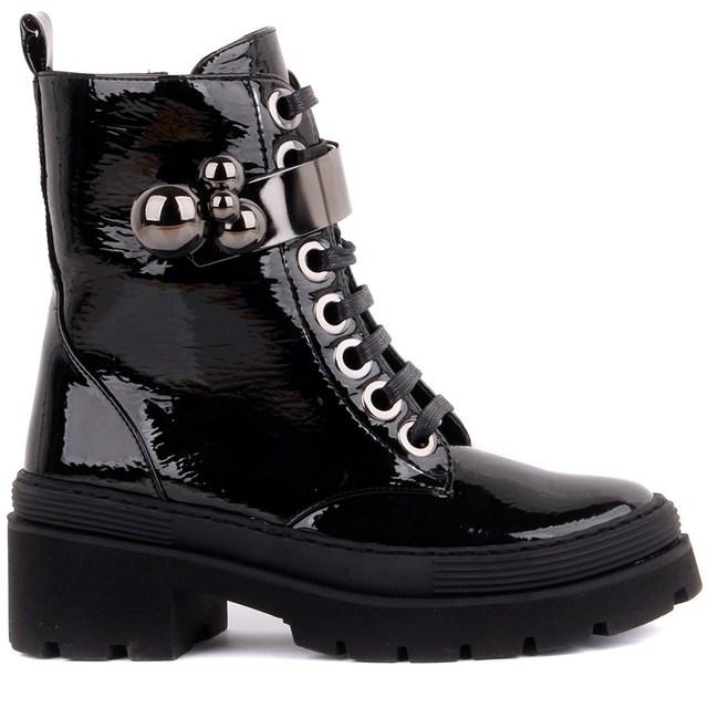 Guja-Black Zipper, Metal Decoration, Women's Boots