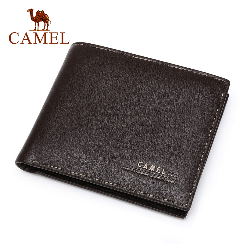 Image 2 - CAMEL Mens Leather Wallet Business Casual Short Cowhide Wallet Mens Young Cross section Soft Wallet TideWallets   -