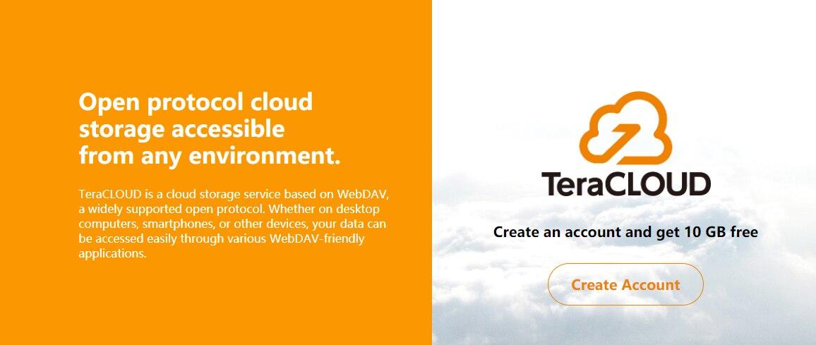 TeraCloud 六周年活动免费15GB+网盘空间, 支持WebDAV挂载