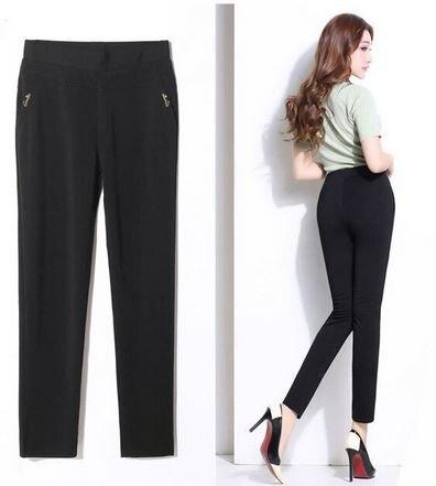 KIL321 Women Casual Elastic Streetwear High Waisted M002 Pants Female Elegant Trousers Women Plus Size