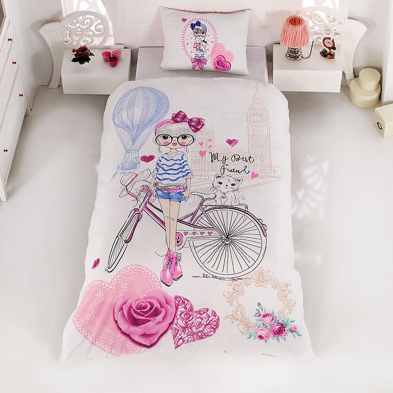 Lady Moda Bedding Set   Isabel Luxury Ranforce Bed Linen Set Twin/Full/Queen/King Size 3/4/5 Pcs Duvet Cover Set From Turkey