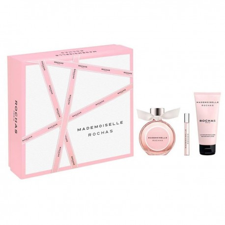 ROCHAS MADEMOISELLE EDP 90ML SPRAY + PERFUMED BODY LOTION 100ML + MINIATURE 7,5ML