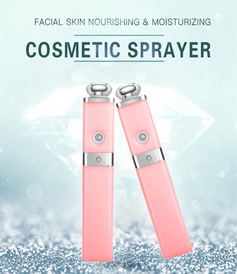 Mini spa umidificadores usb recarregável pulverizador rosto spray nano névoa pulverizador cuidados com a pele ferramentas beleza vaporizador