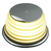 LED מנורת עם אלחוטי מטען עבור טלפונים חכמים צ 'י-באורות תלויים מתוך פנסים ותאורה באתר