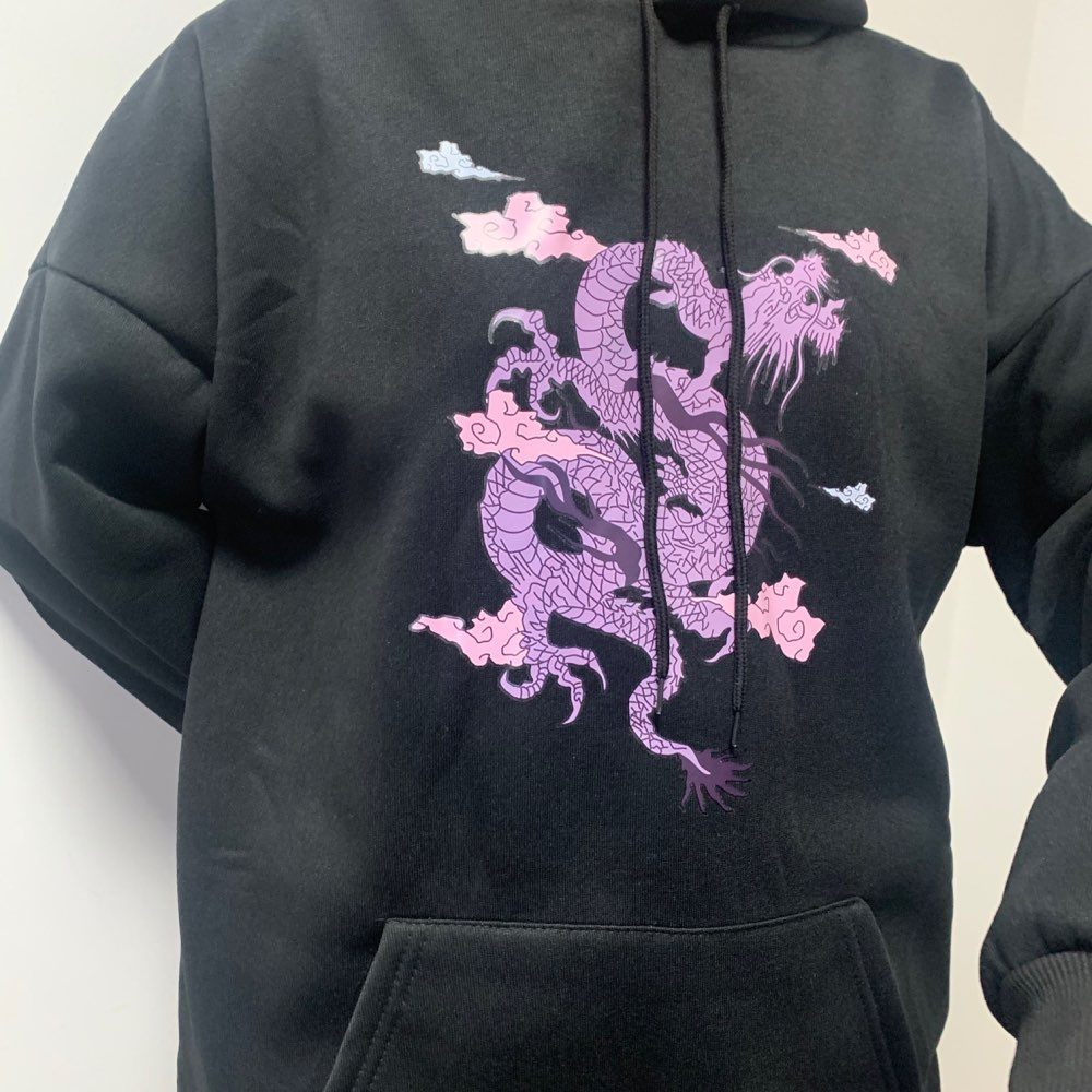 Dragon Print hoodie E-girl photo review