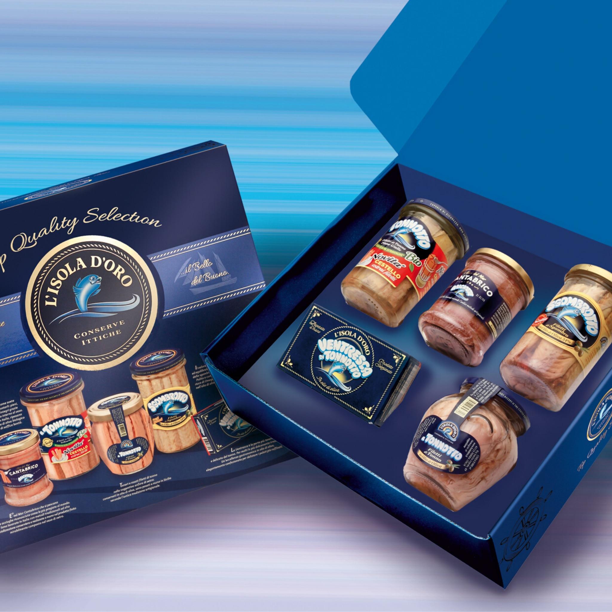 Выбор тунца остров д 'Оро-тунец скумбрия, тунца Anchovies-итальянская продукция высокого качества