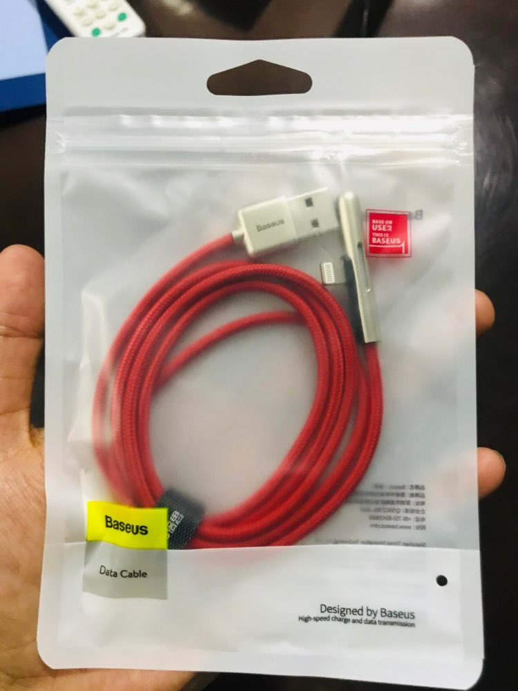 Baseus LED Cable USB for iPhone XR 8 11 Pro 2.4A Fast Charging for iPhone Charger USB Cable Elbow Colorful Light Cabo USB Wire-in Mobile Phone Cables from Cellphones & Telecommunications on AliExpress