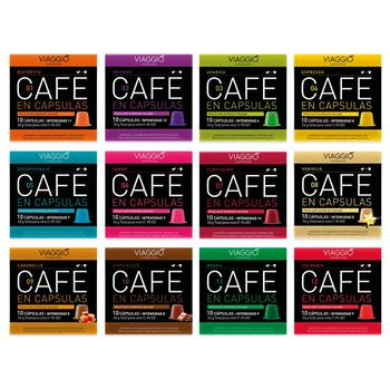 VIAGGIO ESPRESSO - 120 coffee capsules compatible with Nespresso machines (large collection)