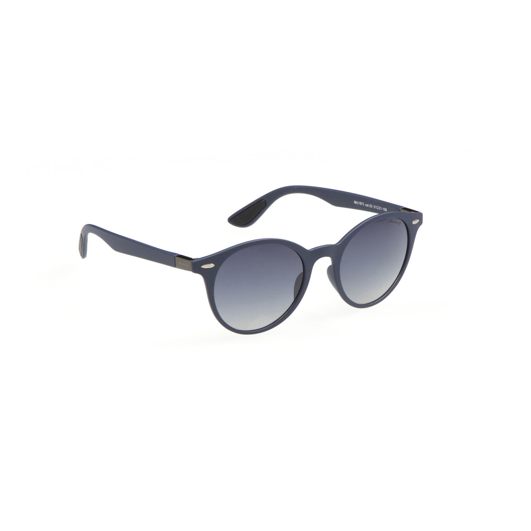 Men's sunglasses mu 1973 03 bone navy blue organic round round 51-21-150 mustang