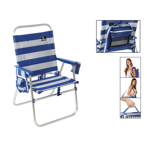Folding Chair 117434 White Blue