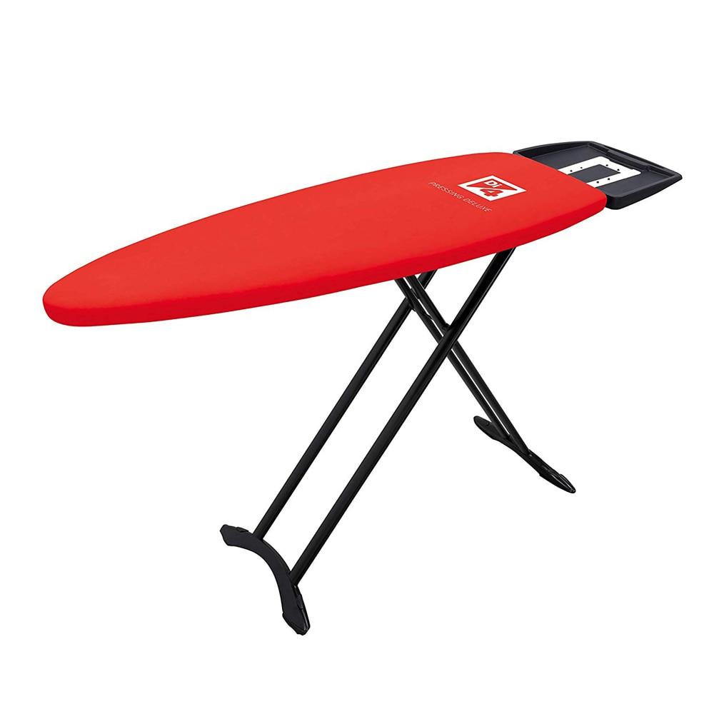 Di4 Pressing Deluxe-table à repasser, 130x47 cm, Support 2 en 1, hauteur jusqu'à 98 cm (100% coton)
