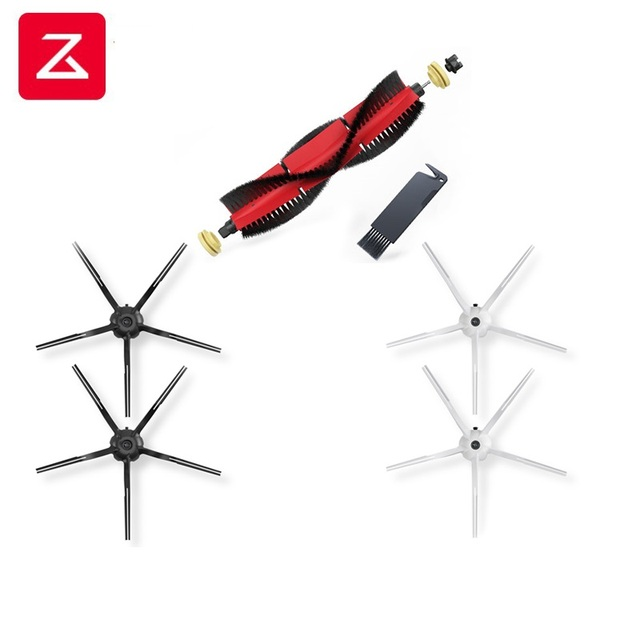 2020 Roborock S6 S50 S5MAX S6Max V,S4/E4 Original Spare Kits Cleaning Brushes: 1pc Main brush&2pcs white brush &2pcs Black brush