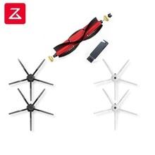 2020 Roborock S6 S50 S5MAX S6Max V,S4/E4 kit di ricambio originali spazzole di pulizia: 1pc spazzola principale e 2 pezzi spazzola bianca e 2 pezzi spazzola nera