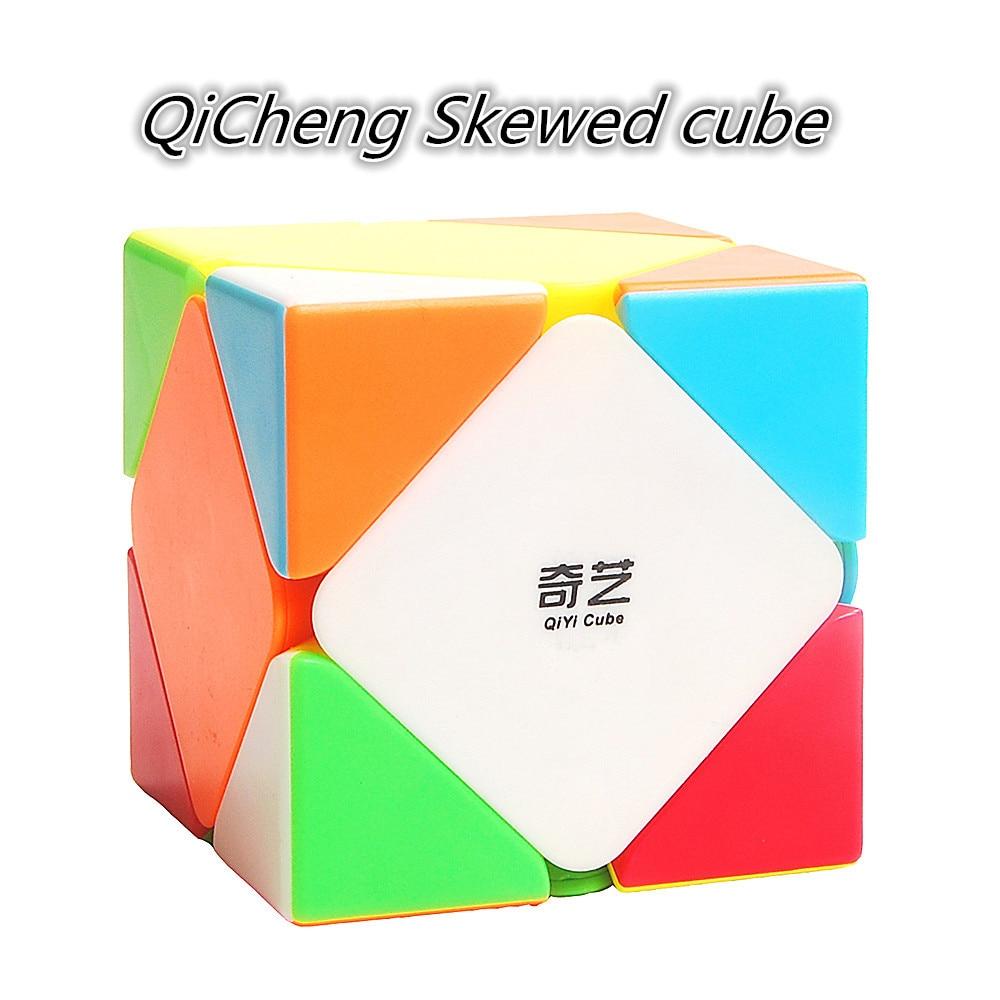 Qiyi QiCheng 3x3 Positioning Speed Skewed Magic Cube QICHENG 3x3 Skew Puzzle Magic Cubo Toy Qiyi 3x3x3 Professional Skew Cube