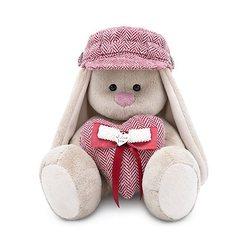 Soft toy Budi Basa Bunny Mi in cap and heart, 23 cm MTpromo