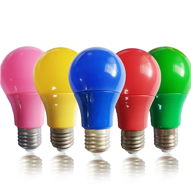 Colorful LED Bulb E27 Lamp Led Bar Light 9W Lamp Red Blue Green Yellow Pink Lampara Light KTV Party Home Decor Lighting