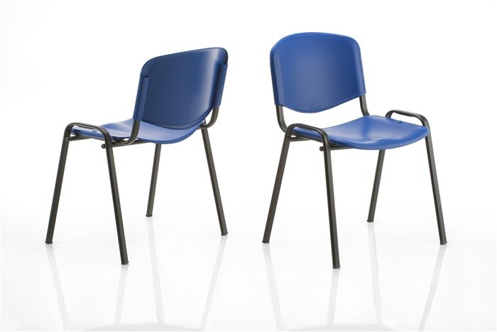 Chair NICE, Black Chassis, Plastic (3 Color To Choose)