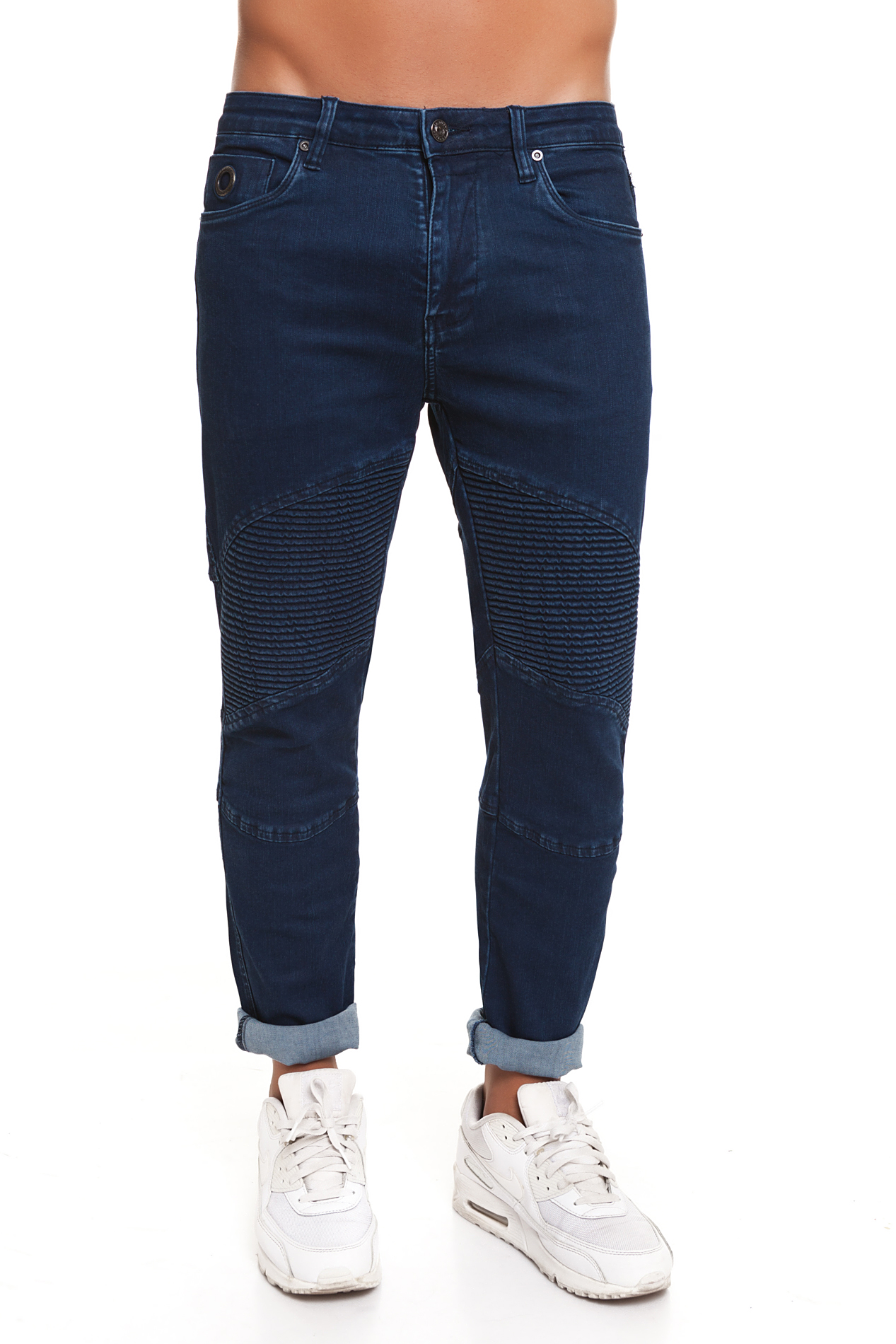 CR7 Jeans For Men Dark Blue Casual Jeans Casual Slim Straight With Pockets CRD011A
