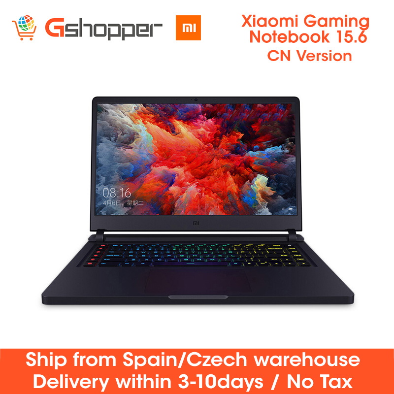 Original Xiaomi Mi Gaming Notebook 15.6''Intel Core I7 16GB Ddr4 256GB SSD+1TB HDD Quad-core NVIDIA GeForce GTX 1060 4K Laptop
