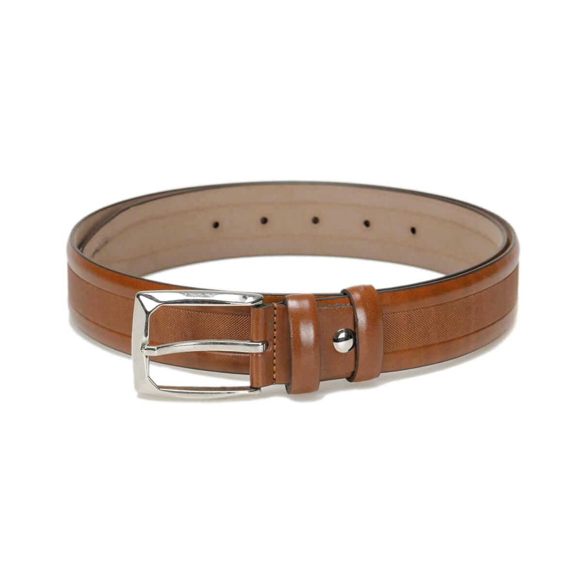 FLO MVZYN3403 Tan Male Belt Garamond