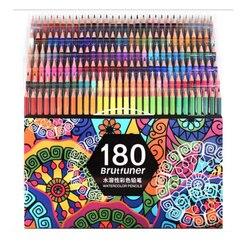 48/72/120/160/180 Цвета акварельные деревянные карандаши для рисования эскиз для детей Профессиональный Цветной карандаши для рисования товары дл...
