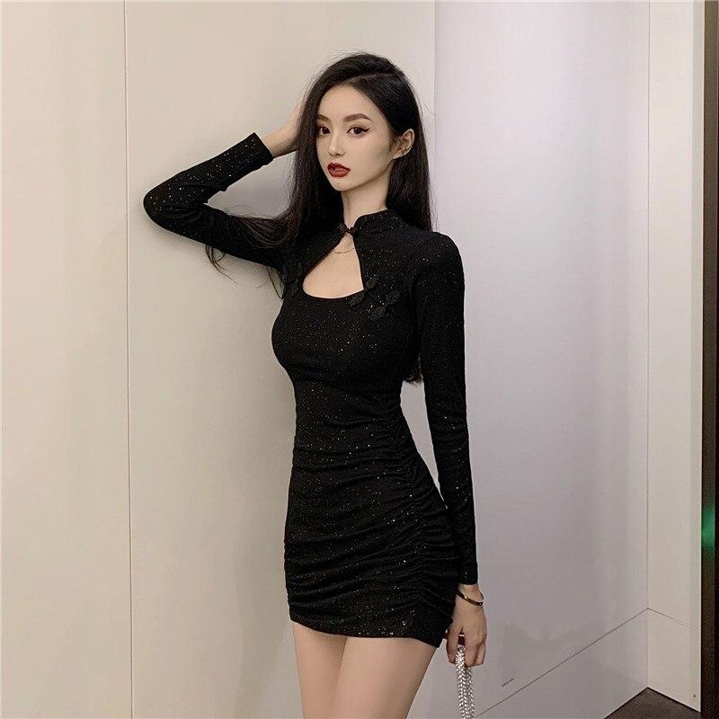 Retro little black dress 2021 new summer salt, sweet taste, design sense, little shoulders, dress girl 21x 5