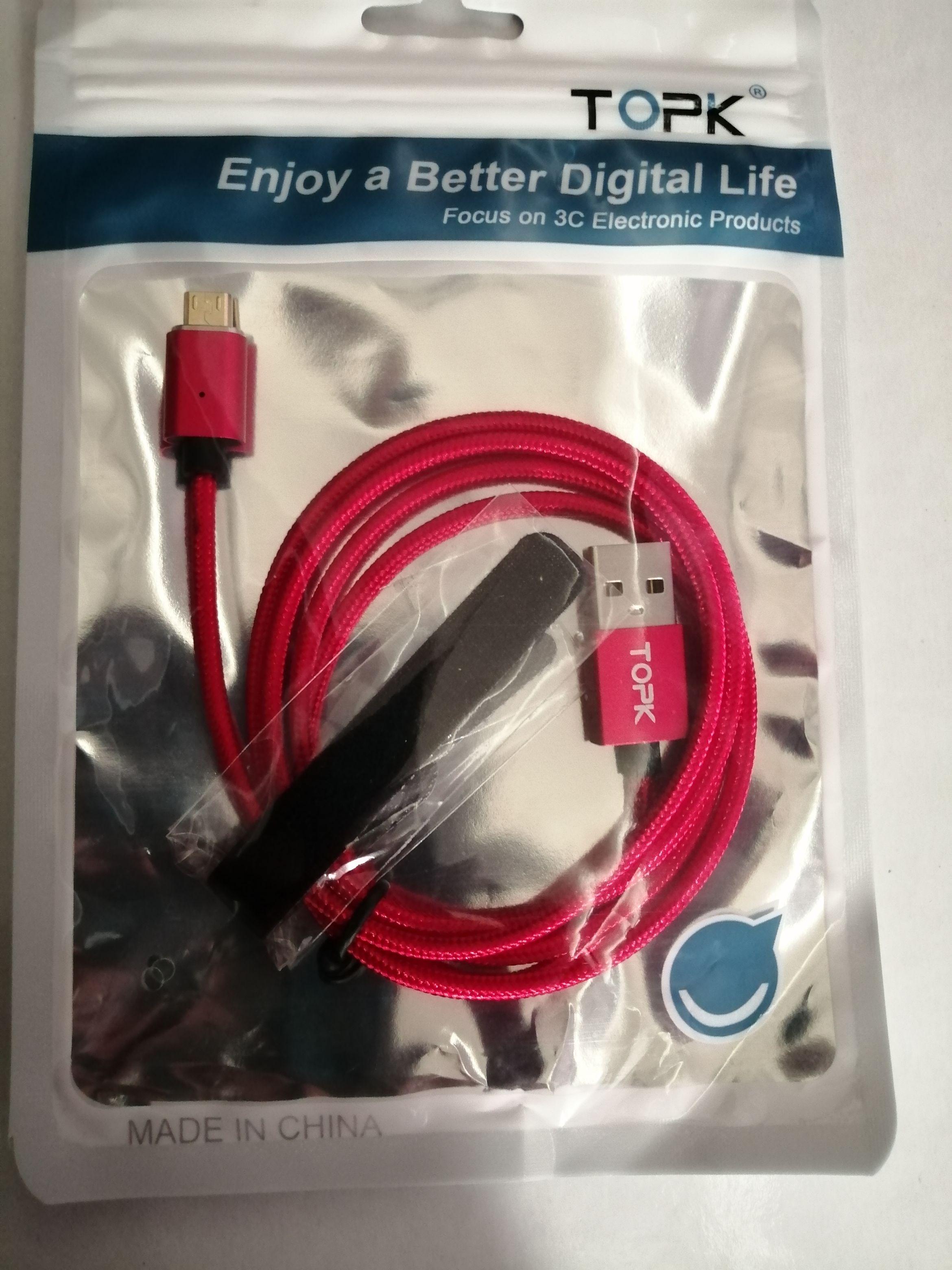 TOPK F Line1 Magnetic Micro USB Cable LED Indicator Upgraded Nylon Braided Data Sync USB Charger Cable for Micro USB Port|cable for|cable for micro usb|usb cable led - AliExpress