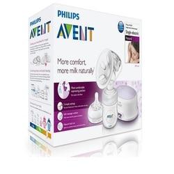 Электрический молокоотсос Philips AVENT, натуральный, без БФА, новая/последняя модель SCF332/31, Одноместный, ультра комфортный, с бутылкой для молока,...