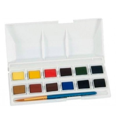 WATERCOLOR DALER ROWNEY SIMPLY POCKET CASE 12 COLORS ASSORTED