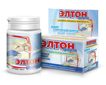 Elton Forte (with L-carnozin and Royal milk) 60 tablets. Vitamin Complex to increase physical endurance. недорого
