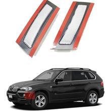 Прозрачный/дым/Amberr/темно-серый/красный объектив переднего бампера боковой габаритный отражатель светильник для 2007-2010 BMW X5 E70 Pre-LCI